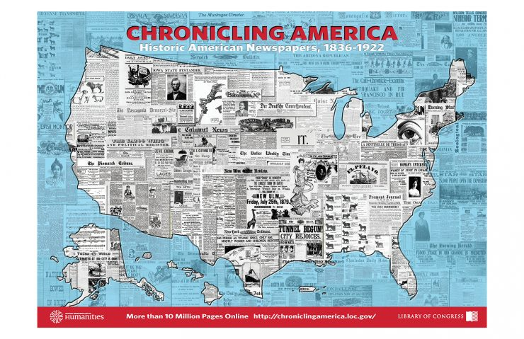 10 Million Page Poster, celebrating 10 million pages in Chronicling America