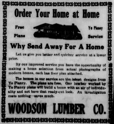 Burleson Ledger, Planry Home Ad, May 16, 1919.
