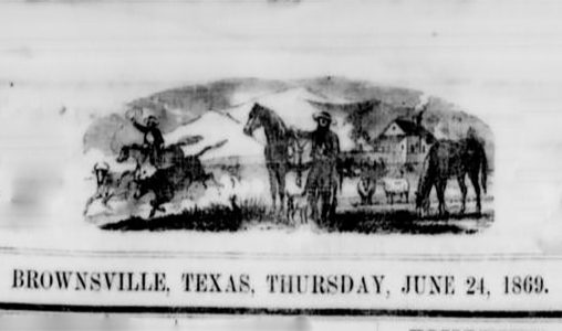 Masthead image of the Daily Ranchero from Brownsville
