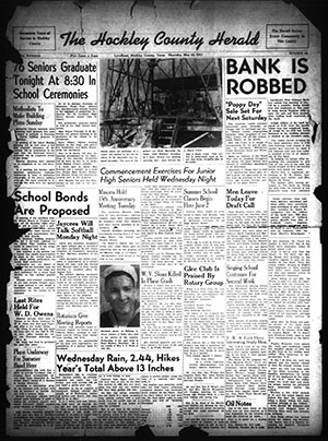 First page of the May 2, 1941 Hockley County Herald.